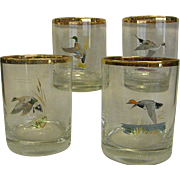 Mid-Century Ned Smith Duck on the Rocks Tumblers