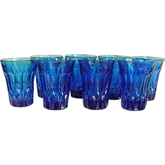 Noritake Blue Perspective 10-oz Tumblers Set of 8