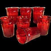 Beautiful Set of Noritake Ember Red Provincial Tumblers