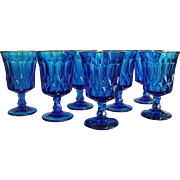 Noritake Blue Perspective Iced Tea Stems Set of 7