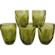 Mid-Century Russel Wright Pinch Chartreuse Tumblers