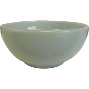 Anchor Hocking Fire King Turquoise Blue Chili Bowl