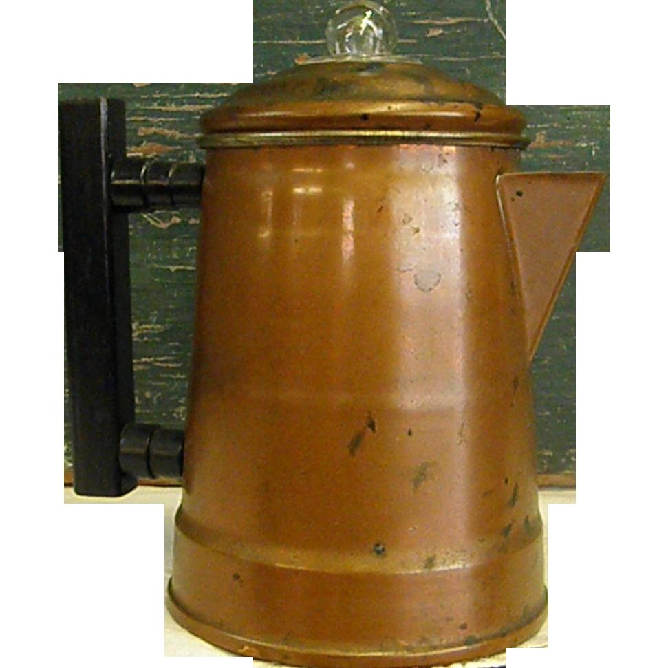 Vintage Copper Coffee Pot From Bluebonnethillantiques On