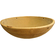 Large Primitive Hand Turned Wood Dough Bowl Treenware