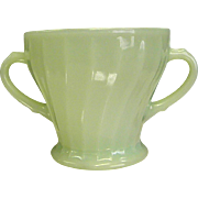 Anchor Hocking Jadeite Swirl/Shell Open Sugar