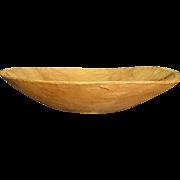 Wonderful Hand-Hewn Wooden Trencher/Dough Bowl