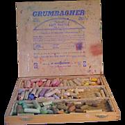 Vintage Grumbacher Wooden Artist's Pastel/Chalk Box