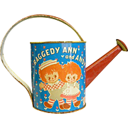 Classic Raggedy Ann and Andy Metal Watering Can