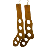 Pair of Wood Sock Stocking Stretchers Dryers