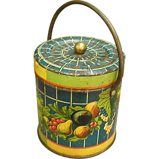 Colorful Antique French Jam Tin by Charles Jovignot