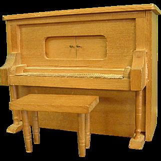 Cute Little Upright Piano Dollhouse Doll Music Box