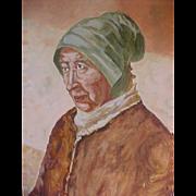 Interesting Portrait of Provincial Woman