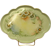 Hand-painted GDA Limoges Porcelain Tray Signed M. Perl from 1930-40s