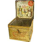 1920s Cinco Handy Humidor Cigar Tin