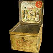 1920s Cinco Handy Humidor Cigar Tin