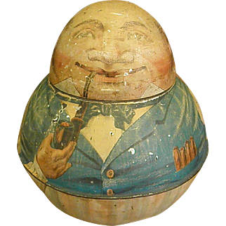 Mayo's Cut Plug Roly Poly Tobacco Tin from 1912