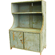 Charming Rustic Doll or Toy Hutch