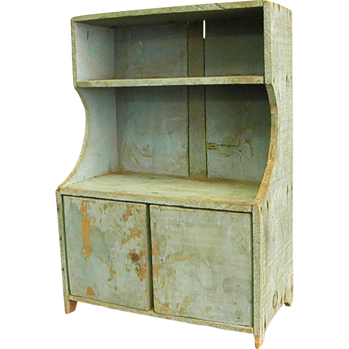 Charming Rustic Doll Or Toy Hutch Bluebonnet Hill Estates Antiques Ruby Lane
