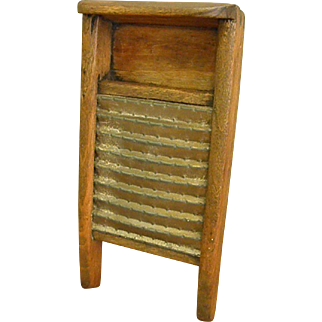 Darling Homemade Primitive Toy or Doll Wash Board