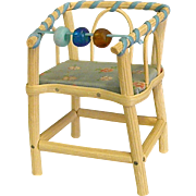 1950s Western Germany Wood Doll Youth Chair High Chair