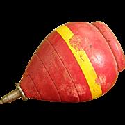 Vintage Red Wooden Top Spinner
