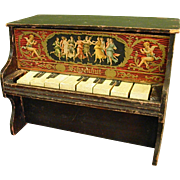 Fantastic Antique Schoenhut Wooden Toy Piano