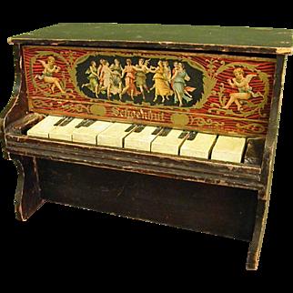 Fantastic Antique Schoenhut Wooden Toy Piano