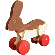 Homemade Wooden Bunny Rabbit Toy