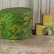 Vintage Diminutive Painted Basket