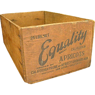 Great Old Wooden Apricot Crate from California