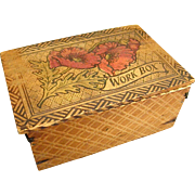 Well-Loved Victorian Pyrographic Box