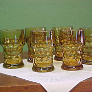 Nice Set of 6 Anchor Hocking Georgian Tumblers - Red Tag Sale Item