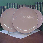 Franciscan Fine China – Encanto Pattern Dinner Plates with Platinum Trim