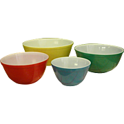 Midcentury Pyrex Nesting Bowls Set of Four