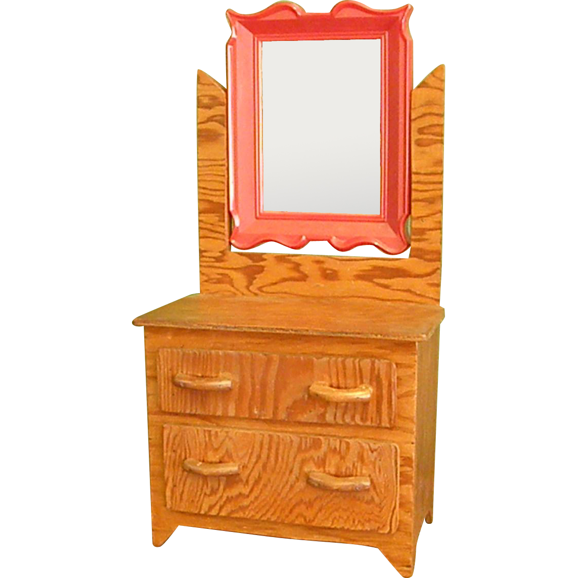 Charming Handmade Folk Art Wood Doll Dresser With Mirror From Bluebonnethillantiques On Ruby Lane