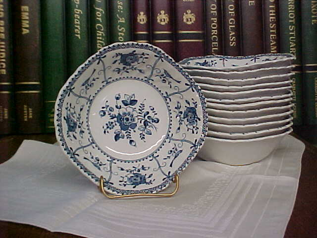 Vintage Johnson Brothers Blue Indies Square Soup Cereal
