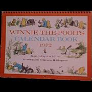 Vintage Winnie-the-Pooh Calendar Book on Heavy Cardstock