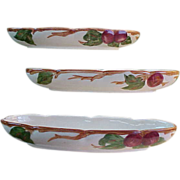 "American Franciscan Apple 10"" Relish Dish"