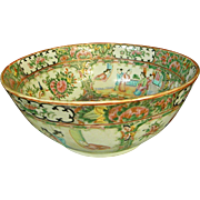 Famille Rose Chinese Bowl Mid-19th Century
