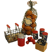 Wonderful Set of  Vintage Dollhouse Food/Groceries