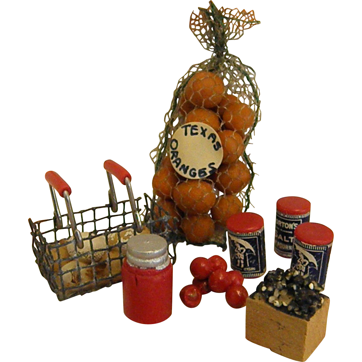 Dollhouse Miniatures Texas: Wonderful Set Of Vintage Dollhouse Food/Groceries From