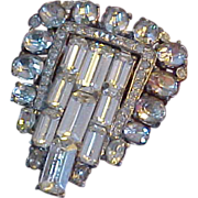 1920-30s Rhinestone Art Deco Dress Clip