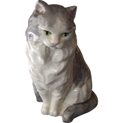 Royal Worcester Long Haired Cat Figurine F.G. Doughty - Red Tag Sale Item