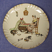 French Sarreguemines Character Story Plate  Froment Richard