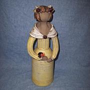 """Elbogen Sweden 12"""" Mid Century Pottery Girl"""