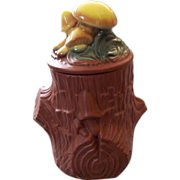 McCoy Pottery Mushroom Tree Trunk Cookie Jar