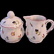 Villeroy & Boch Petite Fleur Sugar and Creamer Set V & B