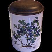 "Villeroy & Boch Botanica Vaccinium Myrtillus Storage Jar 6"" - Red Tag Sale Item"