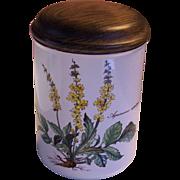 "Villeroy & Boch Storage Jar Botanica Agrimonia eupatoria 6"" - Red Tag Sale Item"
