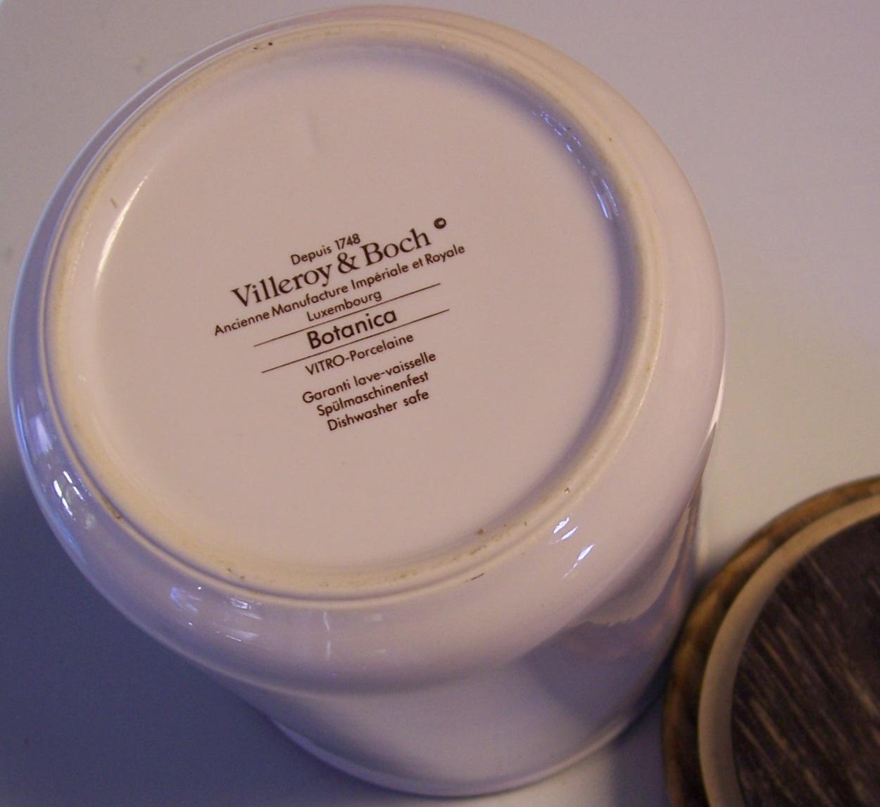 villeroy boch storage jar botanica agrimonia eupatoria 6 from modseller on ruby lane. Black Bedroom Furniture Sets. Home Design Ideas
